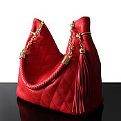 "Сумки и аксессуары handmade. Livemaster - original item ""Granville Красный"" красная кожаная сумка. Handmade."