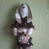 Для дома и интерьера ручной работы. Ярмарка Мастеров - ручная работа Зайка-хранительница ватных дисков и палочек. Handmade.