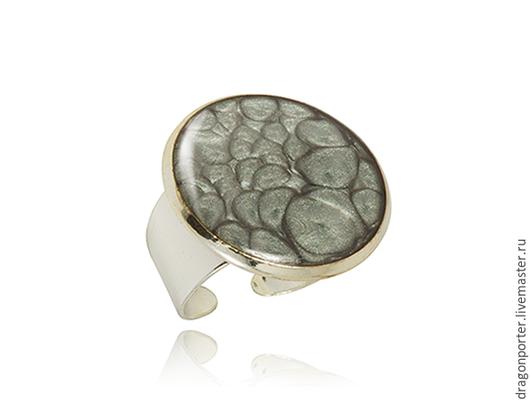 """Кольца ручной работы. Ярмарка Мастеров - ручная работа. Купить Большое  кольцо """" Серое в серебре"""". Handmade. Темно-серый"""