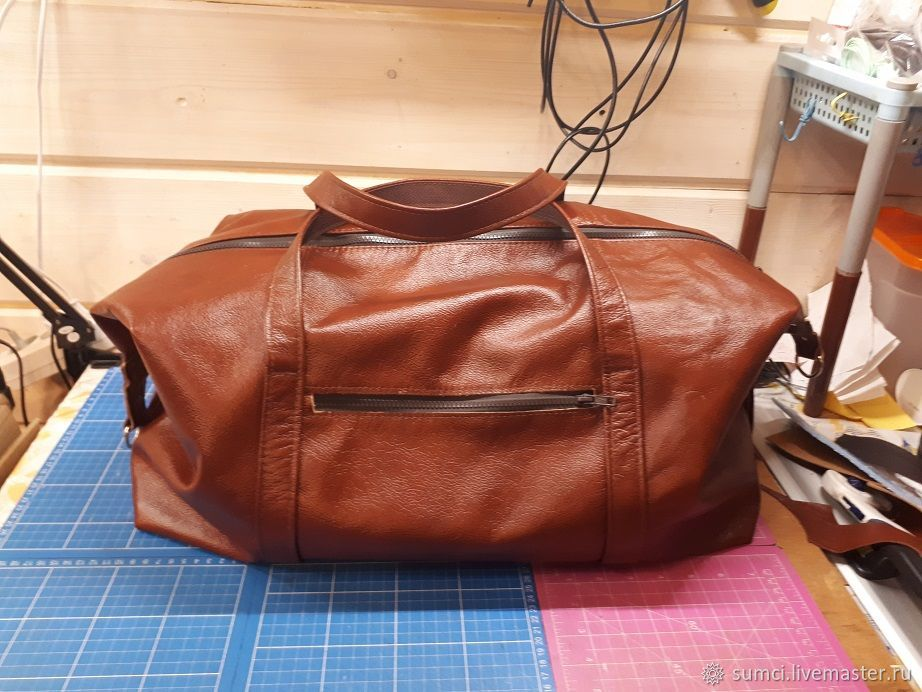Road leather bag 35, Travel bag, Zvenigorod,  Фото №1