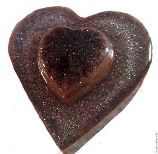 Мыло ручной работы. Ярмарка Мастеров - ручная работа. Купить Кофейное сердце. Handmade. Мыло ручной работы, мыло натуральное