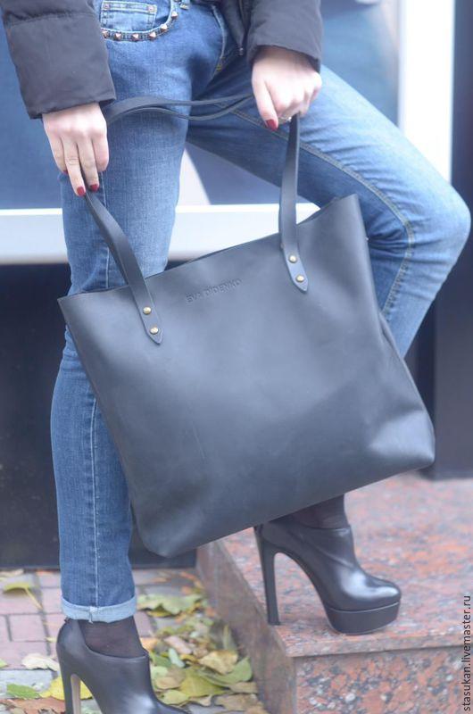 Женские сумки ручной работы. Ярмарка Мастеров - ручная работа. Купить Кожаная синяя женская сумка. Handmade. Тёмно-синий