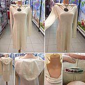 Одежда ручной работы. Ярмарка Мастеров - ручная работа Платье Молочное трикотаж. Handmade.