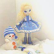 Портретная кукла ручной работы. Ярмарка Мастеров - ручная работа Снежанна и Снеговичок. Handmade.