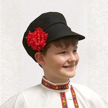 Русский стиль ручной работы. Ярмарка Мастеров - ручная работа Картуз для мальчиков и мужчин. Handmade.
