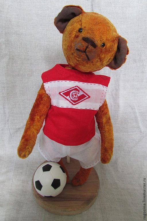 Мишки Тедди ручной работы. Ярмарка Мастеров - ручная работа. Купить футболист. Handmade. Оранжевый, авторский медведь