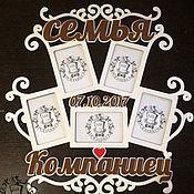 Свадебный салон ручной работы. Ярмарка Мастеров - ручная работа Рамка Семейная. Handmade.