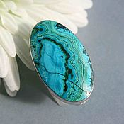 handmade. Livemaster - original item Ring with chrysocolla. Silver.. Handmade.