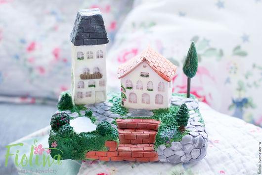 Миниатюрные модели ручной работы. Ярмарка Мастеров - ручная работа. Купить Домики. Handmade. Дом, полимерная глина, декор интерьера
