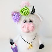 Куклы и игрушки handmade. Livemaster - original item The cow is a Knitted toy. Handmade.
