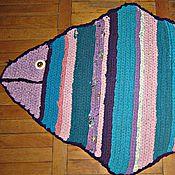 """Для дома и интерьера ручной работы. Ярмарка Мастеров - ручная работа Коврик """"Рыбка"""". Handmade."""