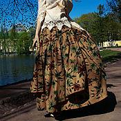 """Одежда ручной работы. Ярмарка Мастеров - ручная работа Юбка в бохо-стиле """"Весенний дождь""""- ХАКИ. Handmade."""