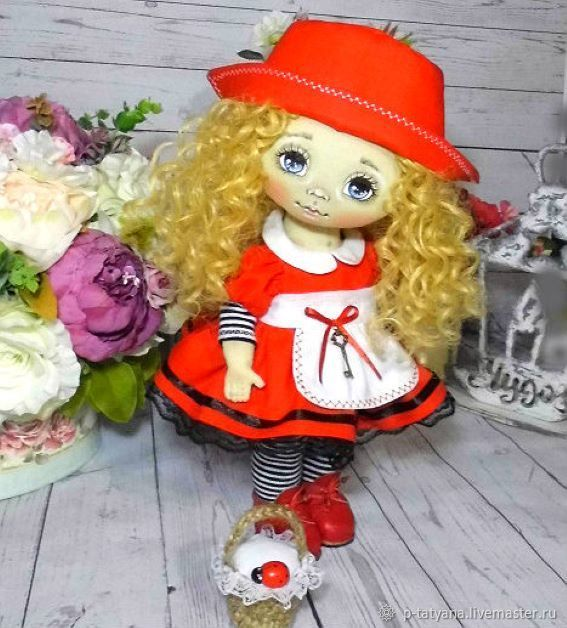 Текстильная кукла Красная шапочка, Куклы и пупсы, Буй,  Фото №1