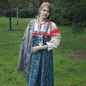Одежда ручной работы. Ярмарка Мастеров - ручная работа Русский наряд для девушки. Handmade.