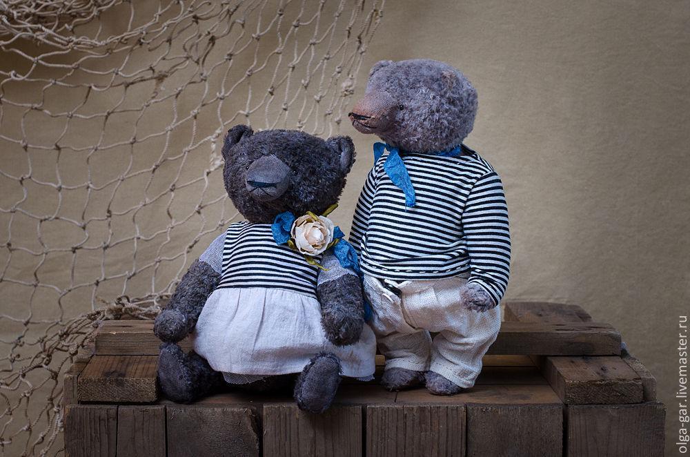 Одежда для кукол ручной работы. Ярмарка Мастеров - ручная работа. Купить Костик и Сонечка. Handmade. Мишки, подарок на любой случай