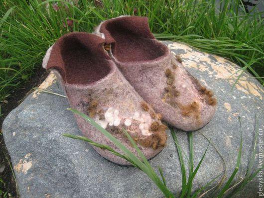 """Обувь ручной работы. Ярмарка Мастеров - ручная работа. Купить Тапочки """"Мохнатые"""". Handmade. Домашняя обувь, кудри шерстяные"""