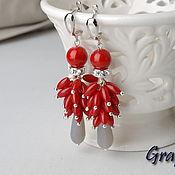 Украшения handmade. Livemaster - original item Red long earrings. Handmade.
