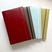 Канцелярские товары handmade. Livemaster - original item Leather notebook with replaceable unit elastic. Handmade.