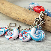 Украшения handmade. Livemaster - original item bracelet from polymer clay dream about summer. Handmade.