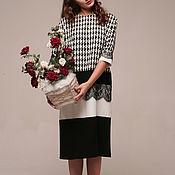 """Одежда ручной работы. Ярмарка Мастеров - ручная работа Платье деловое """"Бохо"""" черно-белое. Handmade."""