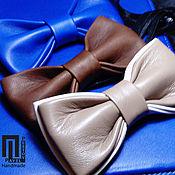 Галстуки ручной работы. Ярмарка Мастеров - ручная работа Бабочка галстук из натуральной кожи. Handmade.