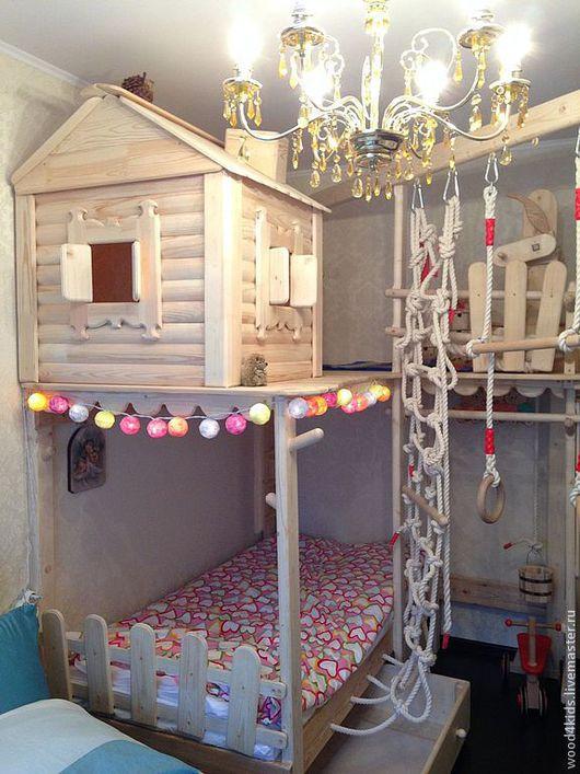 Детская ручной работы. Ярмарка Мастеров - ручная работа. Купить Кровать & избушка с колодцем. Handmade. Деревянная мебель