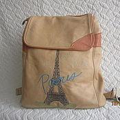 """Рюкзак кожаный """"С любовью Париж""""."""
