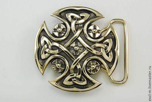 Шитье ручной работы. Ярмарка Мастеров - ручная работа. Купить Пряжка Кельтский крест. Handmade. Пряжка, пряжка для ремня, православие