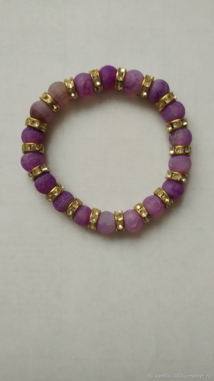 The 'Youth' bracelet made of natural agate beads, Bead bracelet, Krasnodar,  Фото №1