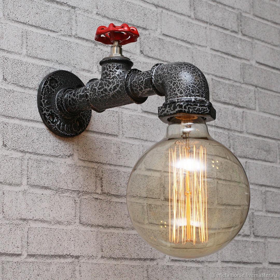 Светильник, лампа в стиле ретро, лофт, индастриал, стимпанк, Бра, Москва,  Фото №1
