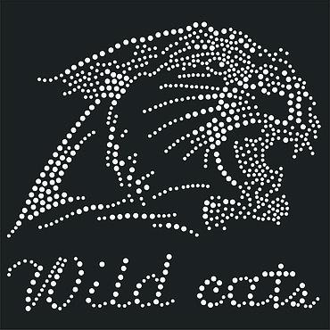 """Материалы для творчества ручной работы. Ярмарка Мастеров - ручная работа Аппликация  """"Wild cats"""" из страз. Handmade."""