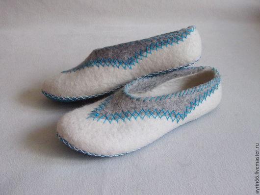 """Обувь ручной работы. Ярмарка Мастеров - ручная работа. Купить Тапочки """"Мозаика"""". Handmade. Комбинированный, тапочки валяные, обувь"""