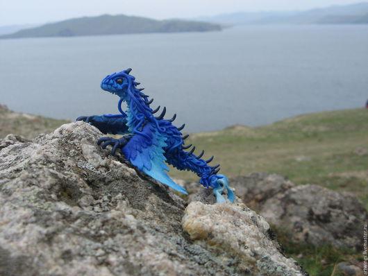 Миниатюрные модели ручной работы. Ярмарка Мастеров - ручная работа. Купить Аттика - штормовой дракон. Handmade. Синий, аттика