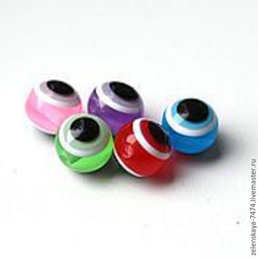 Народные куклы ручной работы. Ярмарка Мастеров - ручная работа. Купить Бусины глазки разноцветные 8 мм. Handmade.
