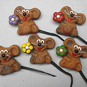 Сувениры и подарки handmade. Livemaster - original item Mice magnets. Handmade.