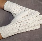 Аксессуары handmade. Livemaster - original item Fishnet gloves white