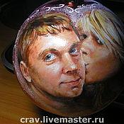 Подарки к праздникам ручной работы. Ярмарка Мастеров - ручная работа Портрет на ёлочном шаре. Handmade.