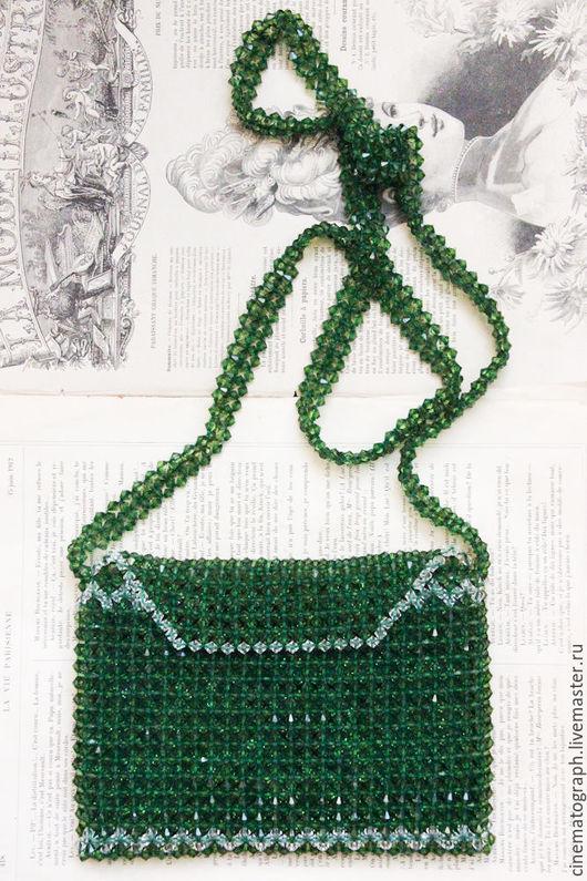Винтажные сумки и кошельки. Ярмарка Мастеров - ручная работа. Купить Сумочка бохо FRANCE винтаж. Handmade. Зеленый, сумка, сумочка