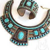 Украшения handmade. Livemaster - original item Egyptian necklace and bracelet with turquoise. Handmade.