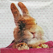 Материалы для творчества handmade. Livemaster - original item Napkins for decoupage Easter Bunny. Handmade.