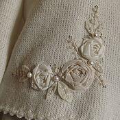 Одежда ручной работы. Ярмарка Мастеров - ручная работа Кофточка молочного цвета с вышивкой. Handmade.