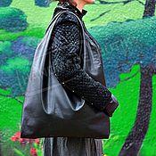 Сумки и аксессуары handmade. Livemaster - original item Bag Bag is made of leather with Black lining large. Handmade.