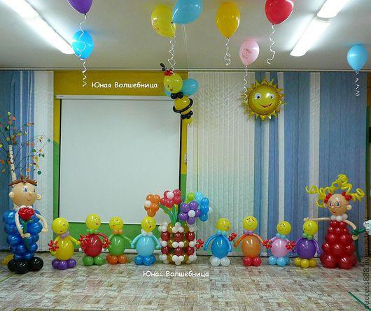 Праздничная атрибутика ручной работы. Ярмарка Мастеров - ручная работа. Купить Оригинальное украшение зала  воздушными шарами. Handmade.