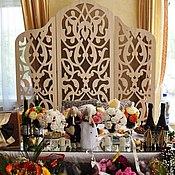Для дома и интерьера ручной работы. Ярмарка Мастеров - ручная работа Свадебная Ширма. Handmade.