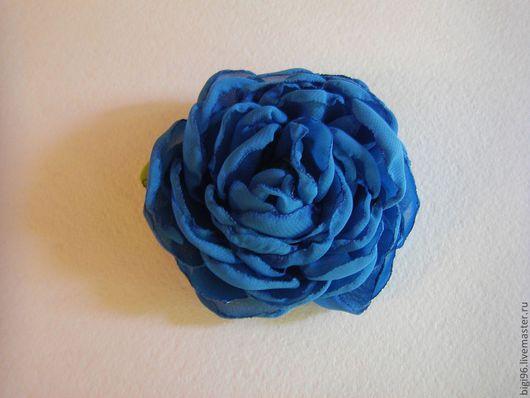 """Броши ручной работы. Ярмарка Мастеров - ручная работа. Купить Брошь """"Blue"""". Handmade. Брошь цветок, брошь-цветок, шифон"""
