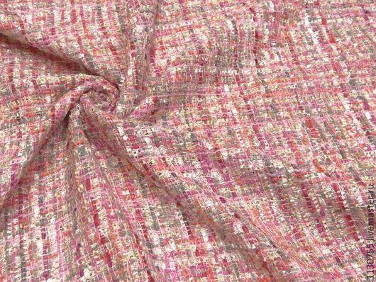 Шитье ручной работы. Ярмарка Мастеров - ручная работа. Купить Ткань  шанель розовая    костюмно-пальтовая. Handmade. Голубой