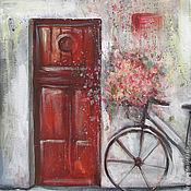 Картины и панно ручной работы. Ярмарка Мастеров - ручная работа Red door. Handmade.