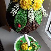 """Цветы и флористика ручной работы. Ярмарка Мастеров - ручная работа Топиарий """"В ожидании весны"""". Handmade."""