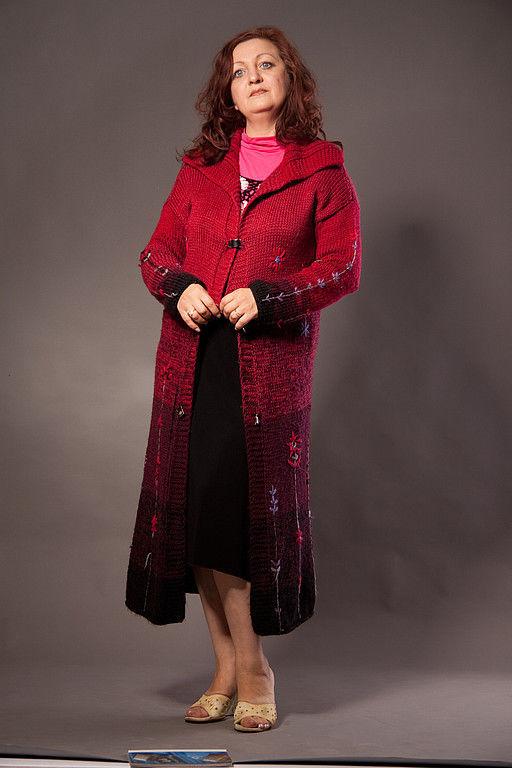 Верхняя одежда ручной работы. Ярмарка Мастеров - ручная работа. Купить пальто. Handmade. Вязаное пальто, уютное пальто