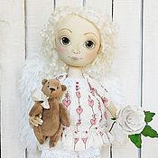 Куклы и пупсы ручной работы. Ярмарка Мастеров - ручная работа Ангел. Авторская интерьерная текстильная кукла.. Handmade.